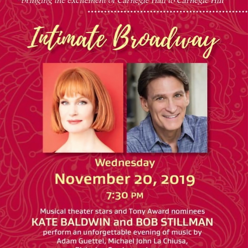 Intimate Broadway Concert with Bob Stillman and Kate Baldwin