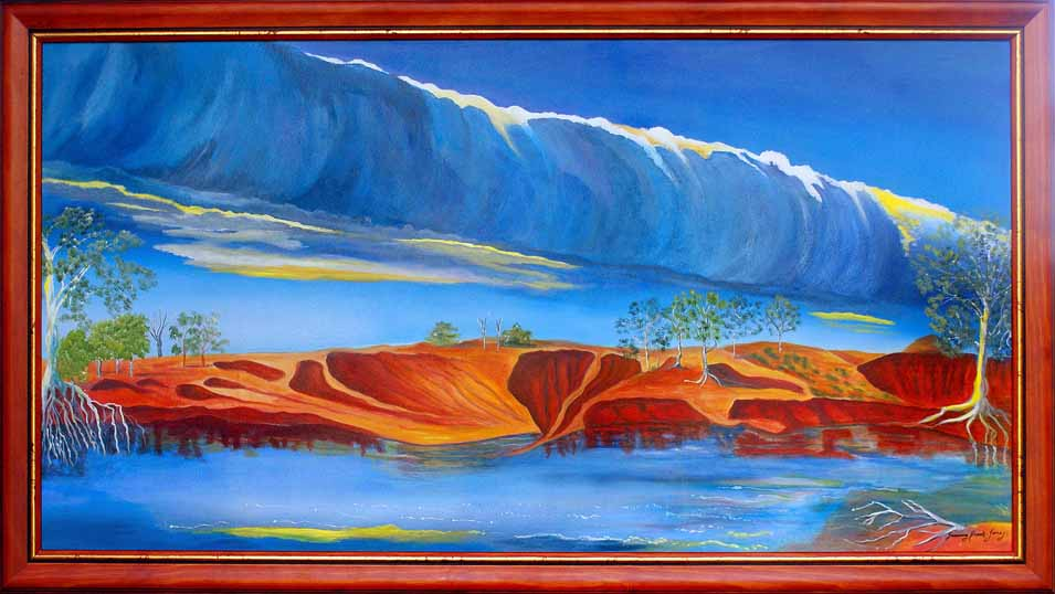 Morning Glory, Red Banks, Albert River, Burketown