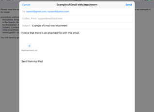 Send an Email with an Attachment in iOS, Android, and Windows using RAD Studio