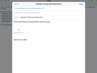 Send an Email with an Attachment in iOS, Android, and Windows using RAD Studio - Updated 10/27/2020