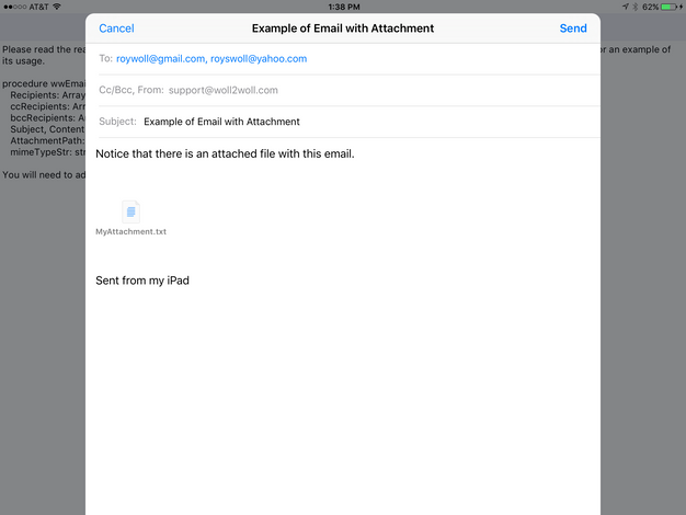 Send an Email with an Attachment in iOS, Android, and Windows using