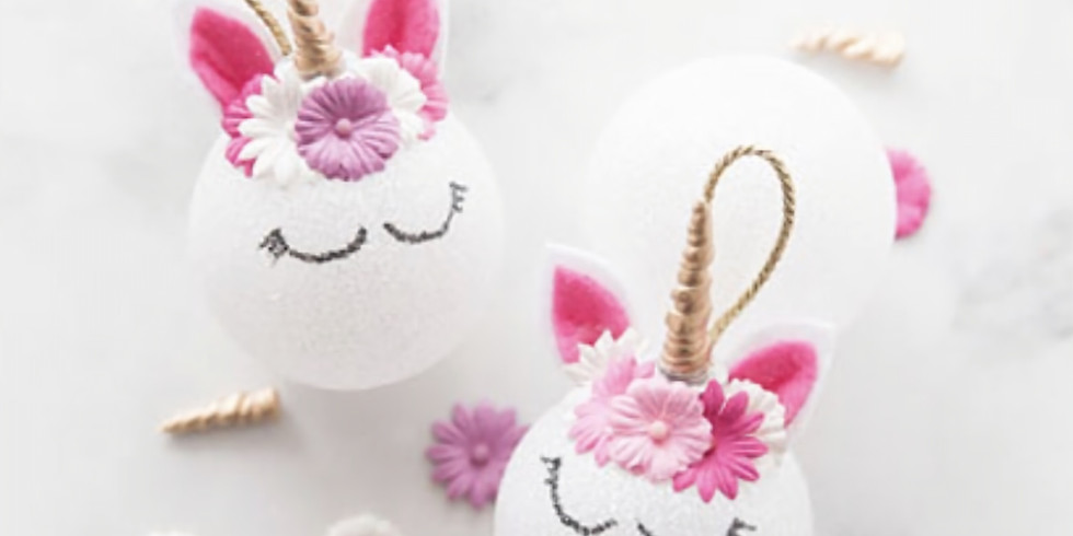 Unicorn Ornament Making & Snacktivity!