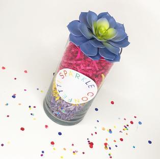 Sparkle Confetti Terrarium Project