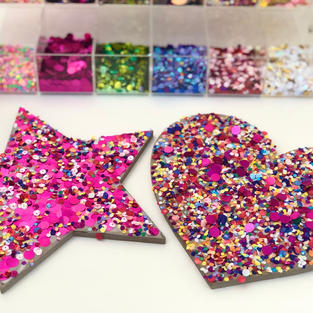 Sparkle Confetti Wood Wall Art Project