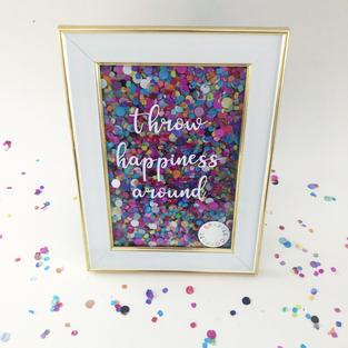 Sparkle Confetti Frame Project