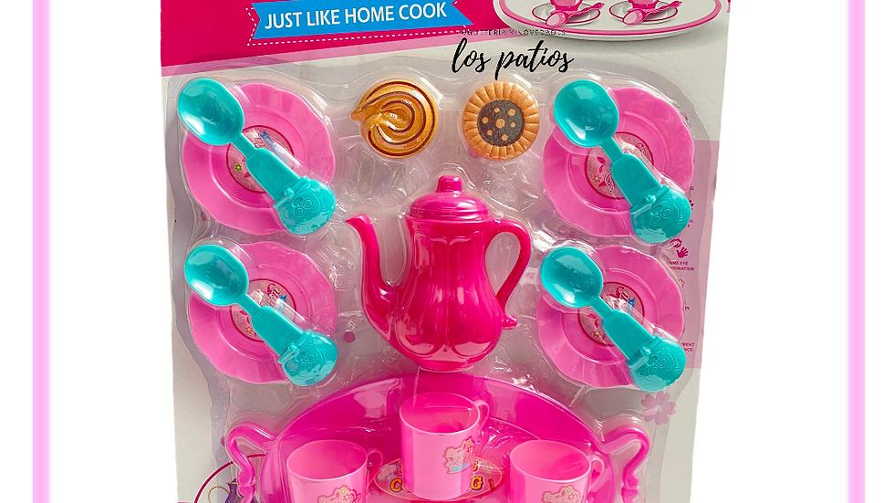Juego de té  rosa  Kitchen
