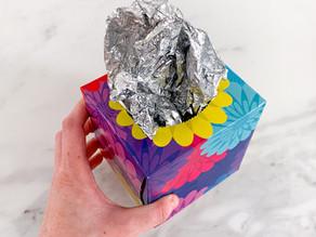 Homemade Sensory: the foil box
