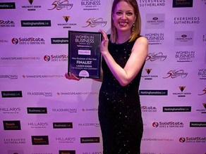 The Sensory Box Co is a finalist in the Nottinghamshire Live Women in Business Awards!