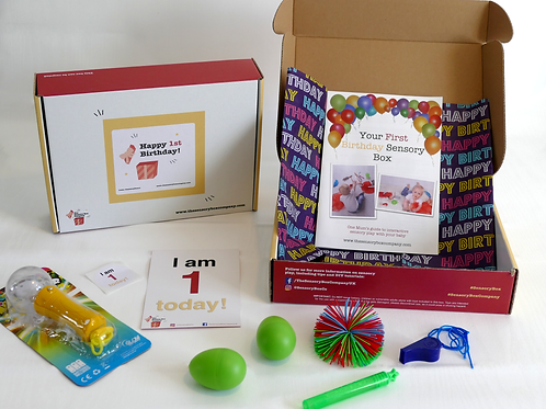 The First Birthday Sensory Box - Shipping included!