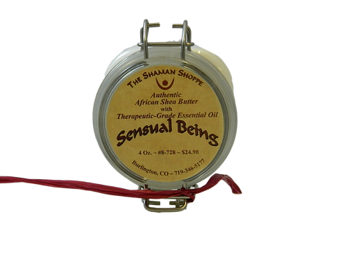 Organic African Shea Butter with Sensual Being Essential Oil Blend ~ 4 Oz.