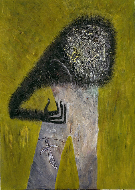 Addict active oil on canvas painting