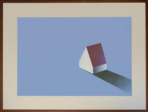 Spray paint and graphite memory loneliness house artwork Nikoletta Papakonstantinou original art