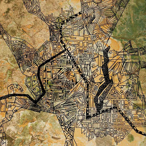 Urban mapping graphic print