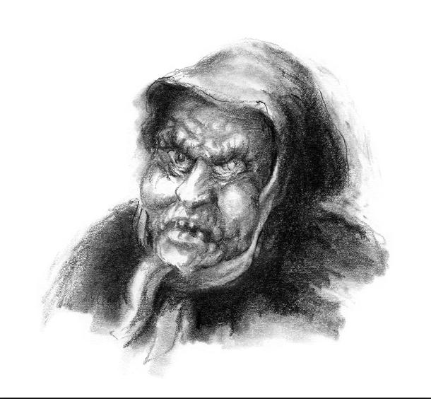 Skrekkelige Lussi fra boken Skrekkelig jul av Sveinung Lutro.
