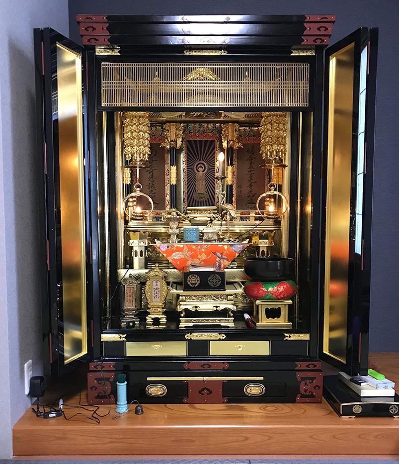 大きい仏壇をコンパクトに