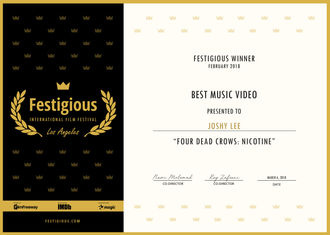 Joshy Lee - Best Music Video for FDC: Nicotine