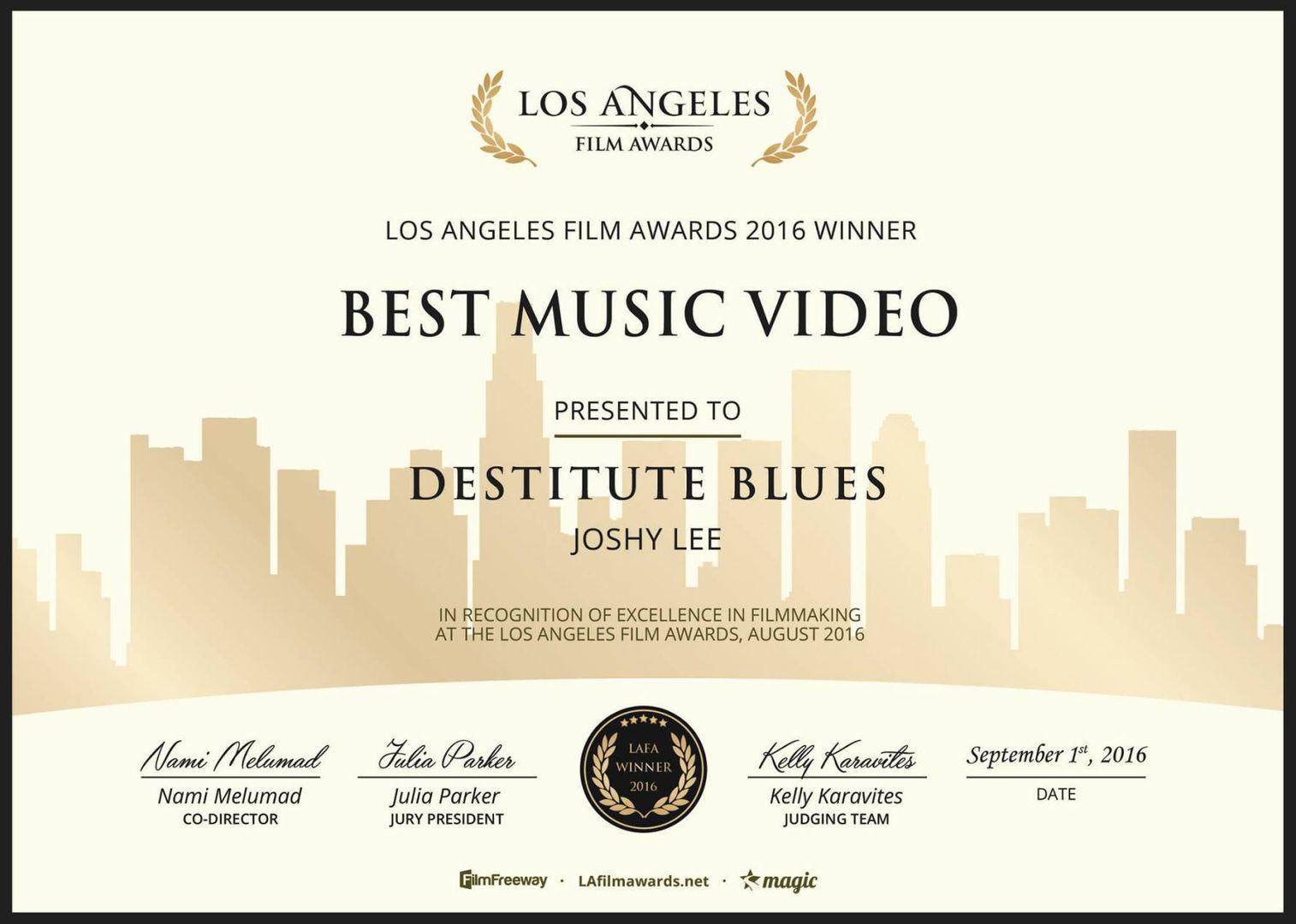Joshy Lee - Best Music Video for FDC: Destitute Blues