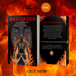 """""""ACCURSED"""" novel NOW at 14 GIFTS shop in GLOUCESTER!"""
