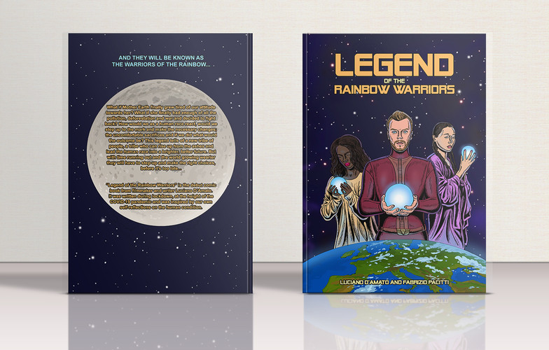 Legend of the Rainbow Warriors comic book mock-up