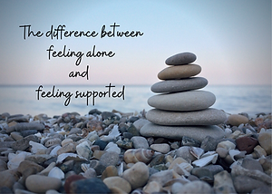 The difference between feeling alone and