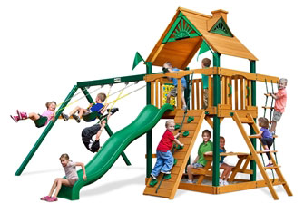 GPS-Chateau-Swing-Set-w-Timber-Shield