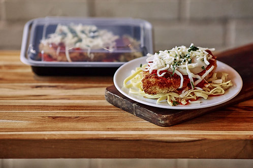 Chicken Parmesan with Linguini