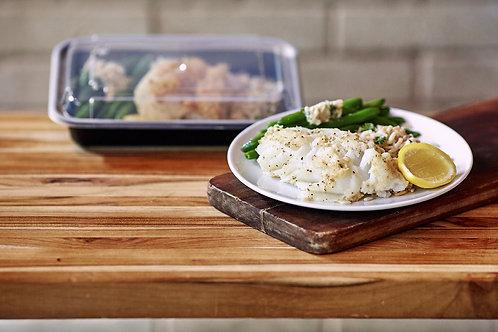 White Fish, Cilantro Lime Rice, Green Beans