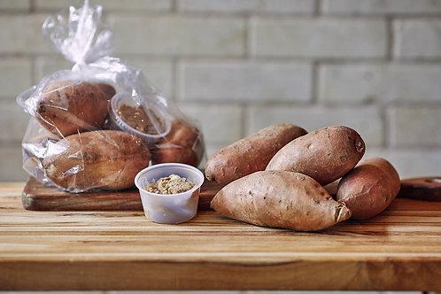 DIY Pecan & Molasses Roasted Sweet Potatoes
