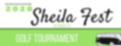 Sheila Fest 2020 Golf Tournament Banner.