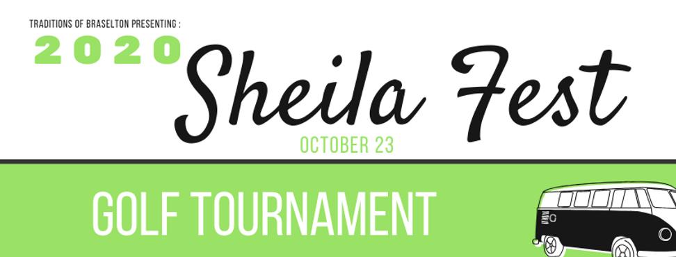 Sheila Fest 2020 Golf Tournament Banner.