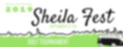 Sheila Fest 2019 Golf Tournament Banner.