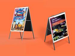 Creative a board design for restaurants