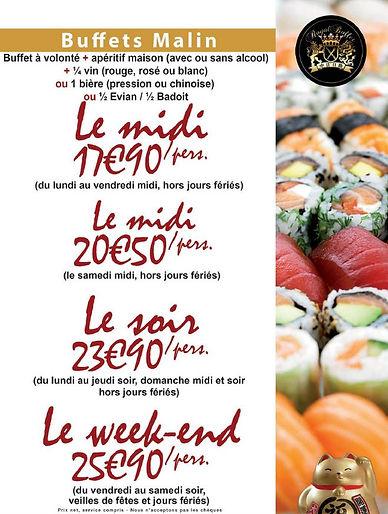 buffet malin Restaurant asiatique le mans sushi le mans restaurant chinois le mans 72