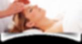 Mulher com olhos fechados e sendo canalizada