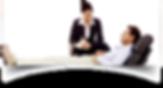 Psicóloga sentada de terno anotando informações do paciente