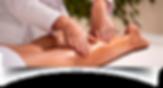 Massagem em perna feminina com creme