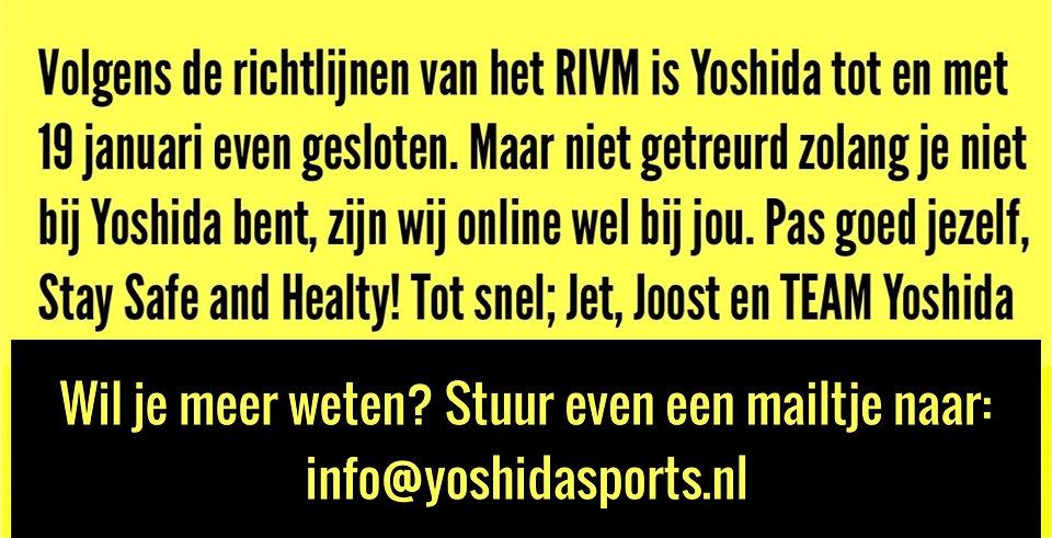 Yoshidasports-rivm-richtlijnen-december-