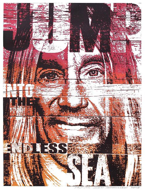 JUMP - screenprint - 16'' x 21''