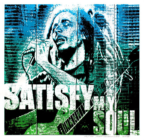 SATISFY - screenprint - 16'' x 15 1/2''