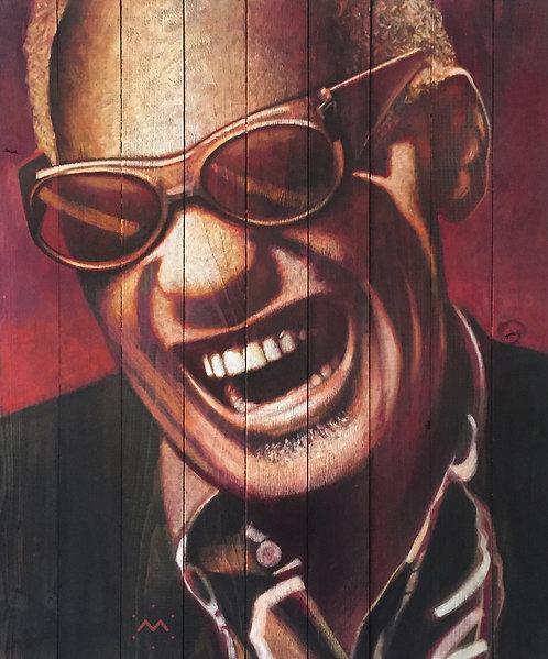 RAY LAUGH - original painting - 21'' x 25''