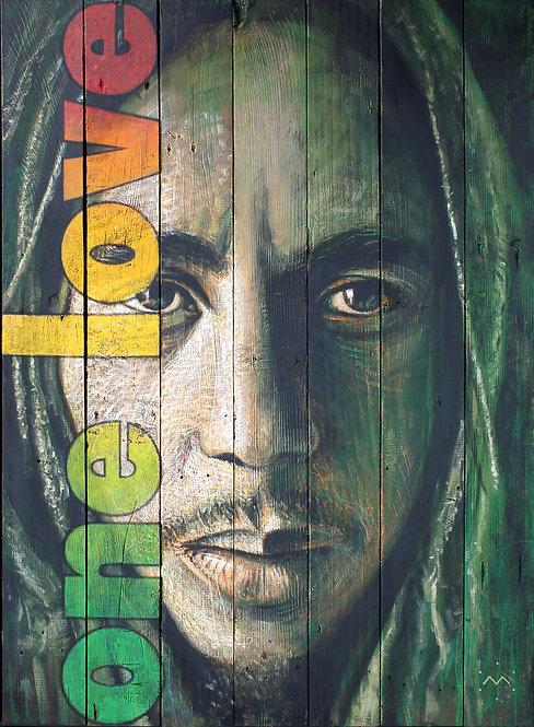 BOB ONE LOVE - original painting - 27'' x 37''