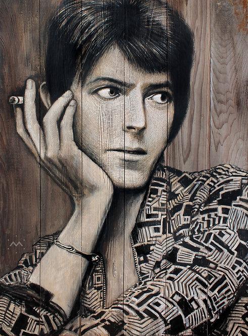 DAVID WITH CIG - original painting - 30'' x 41''