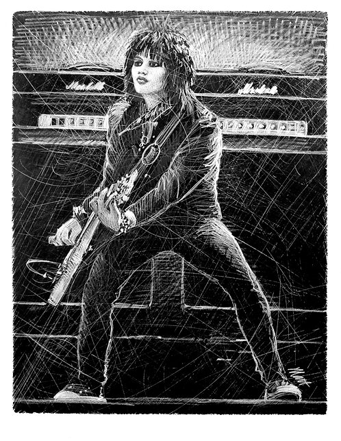 JOAN WITH AMPS print