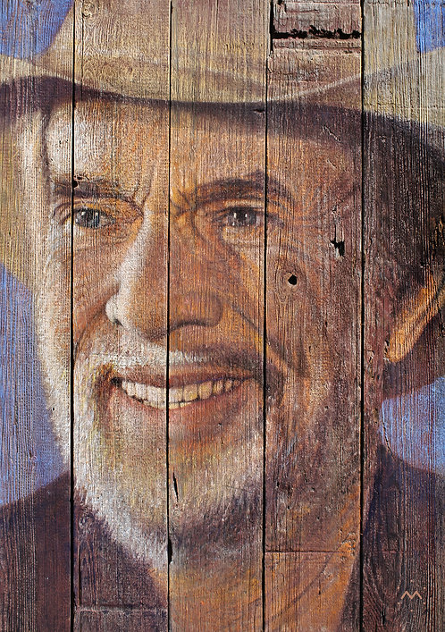 MERLE SMILE - original painting - 26'' x 36''