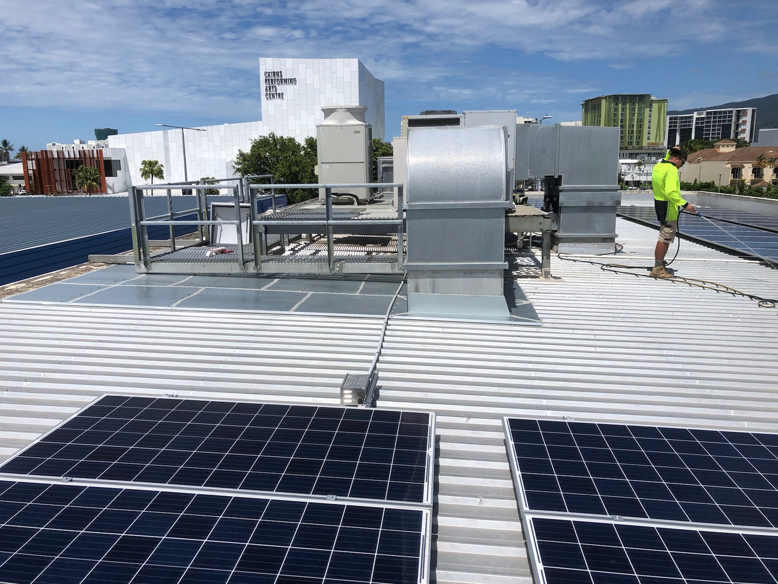 Rooftop aircon platform