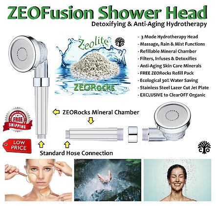 ZEOFusion™ Detoxifying & Anti-Ageing SHOWER HEAD