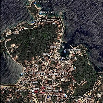 Kassiopi Satellite View