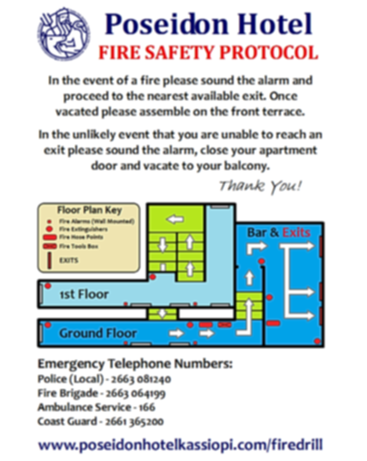 Poseidon Hotel Fire Safety Protocol