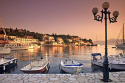 Kassiopi Harbour Sunset 1