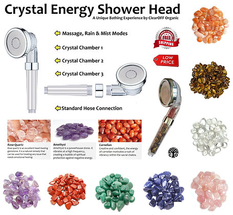 Crystal Energy Hydrotherapy SHOWER HEAD